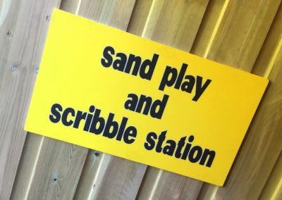 BUSY BEES NURSERY - SAND PLAY AND SCRIBBLE STATION